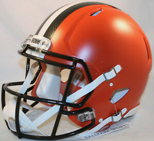 25491d633b4 Image is loading CLEVELAND-BROWNS-Riddell-Full-Size-Speed-Authentic-Helmet