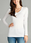 Women-PLUS-Long-Sleeve-V-NECK-T-Shirt-Active-Basic-Cotton-Layering-1XL-2XL-3XL thumbnail 9