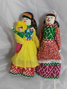 Peruvian-Cloth-Doll-Set-of-2-Dolls-10-034-Tall