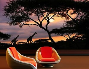 Safari Wall Art photo wall mural african safari 400x280 wall decor wallpaper wall