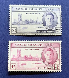 1946 GOLD COAST PEACE STAMP SET MINT OG