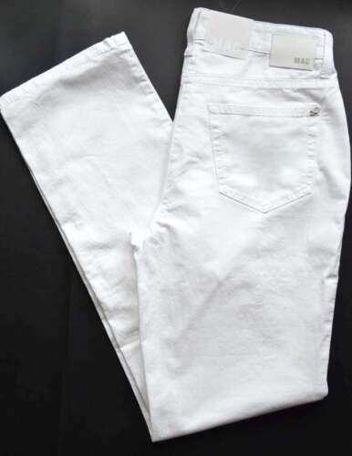 Mac Jeans ANGELA BIANCO STRETCH TG 46 l32 Slim Fit Nuovo