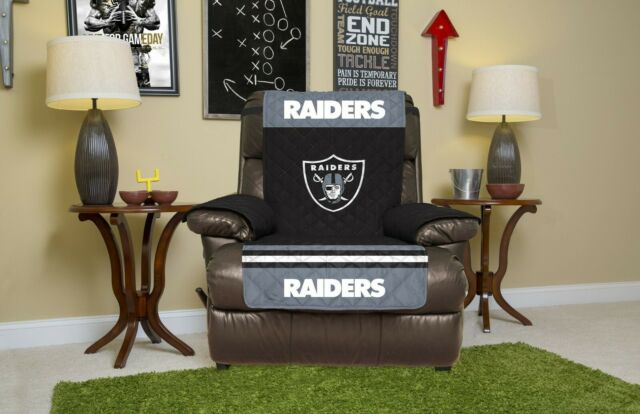Terrific Oakland Raiders Furniture Protector Cover Recliner Reversible Free Shipping Machost Co Dining Chair Design Ideas Machostcouk