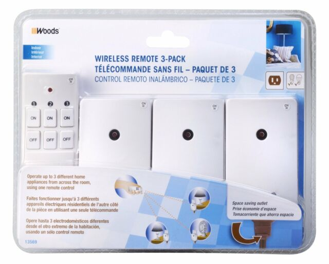 Range Woods 13569 Indoor Wireless Remote Control Kit  up to 66 ft 3 Outlet