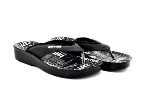 Aerosoft Ladies Summer Sandals Orthopedic Toe Post Mules New 3-8UK Black