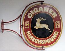 Älteres Werbeschild - Alte Werbung Cigarer Hirschsprung  Ausleger Blech Schild