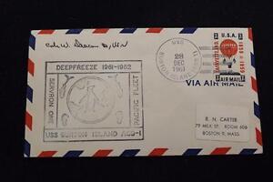 Navale-Cover-1961-Nave-Cancel-Servron-uno-Marchio-Uss-Burton-Isola-AGB-1-4122