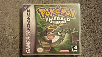 Pokemon Emerald Version Custom Gba Case (no Game)