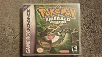 Pokemon Emerald Version Custom Gba Case (no Game)