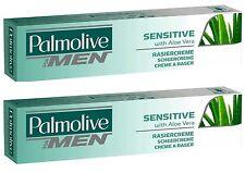 (32,95€/L) 2x 100 ml Palmolive Rasiercreme for Men Sensitive Shave Cream **NEW