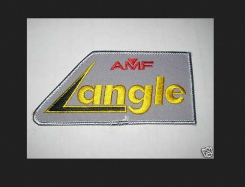 DW AMF GREY ANGLE VINTAGE  Bowling Shirt Patch PBA rare collectable