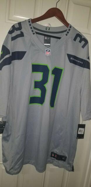 Nike Seattle Seahawks #31 Kam Chancellor Alternate Jersey Men's 3XL - Grey
