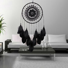 Black Dream Catcher Handmade Lace Feather Bead Home Hanging Design Decoration