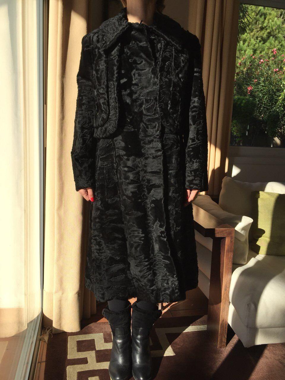 Hartnell designer coat/fur SZ SMALL MEDIUM - image 6