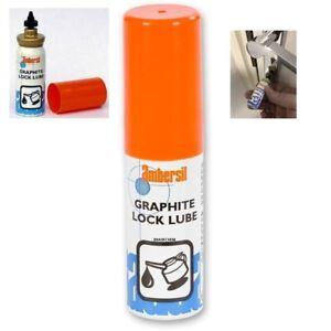 Ambersil-Dry-Graphite-Lock-Lubricant-Car-Caravan-Bike-Padlock-lube-15ml-Aerosol