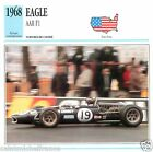 EAGLE AAR F1 1968 CAR VOITURE USA ETATS-UNIS CARTE CARD FICHE