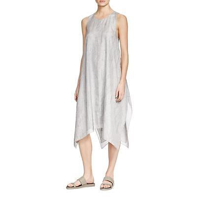 Eileen Fisher 5163 Womens Gray Silk Printed Tent Casual Dress L BHFO