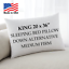 Down-Alternative-King-Standard-Queen-Bed-Pillows-Hypoallergenic-USA-Made-1-Pack thumbnail 3