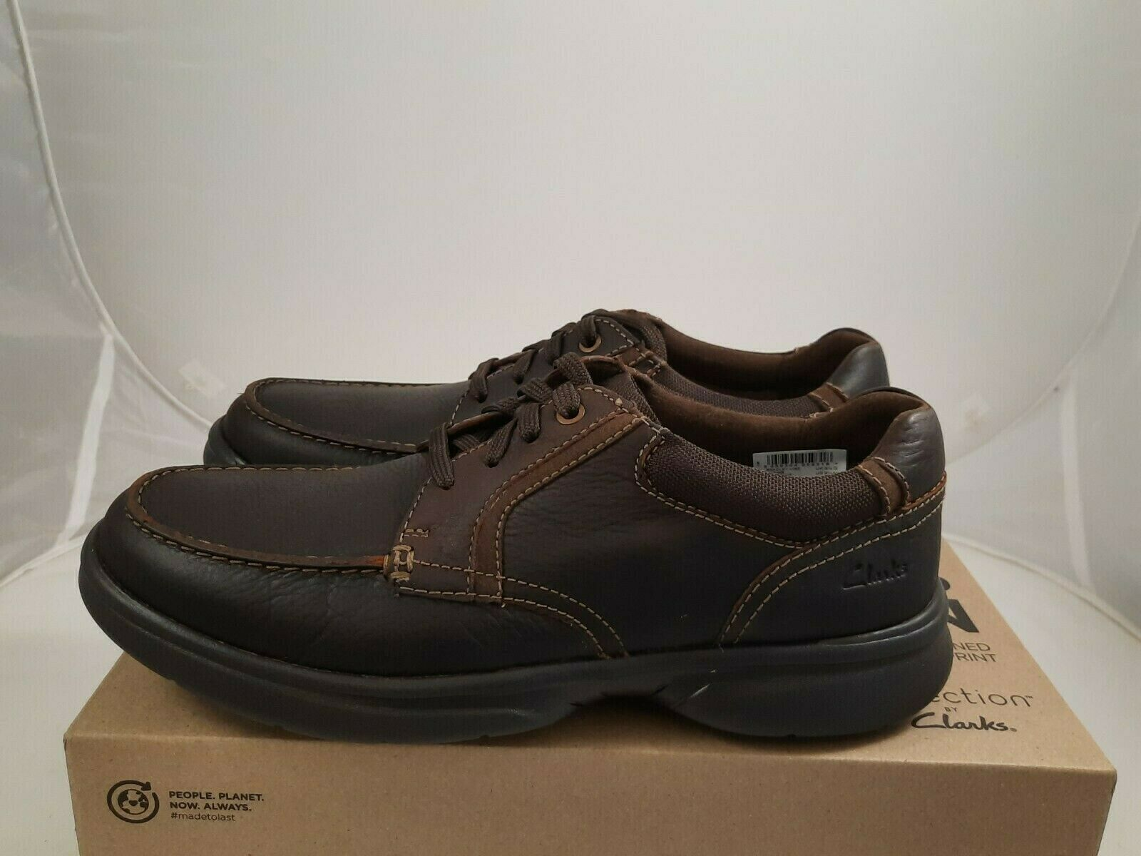 Clarks Bradley Vibe Brown Tumble Leather Men Lace Up Shoes