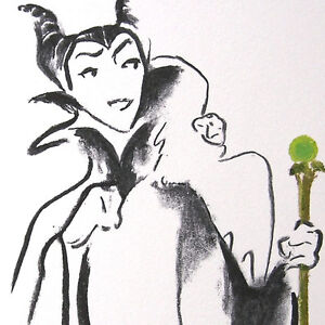 Maleficent-Art-Deco-WDCC-villain-drawing-Numbered-Limited-Edition