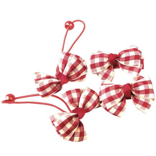 4 Stück Kinder Mädchen Plaid Band Bogen Bowknot Haarspangen Barrette