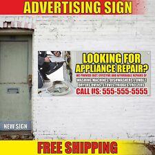 Looking For Appliance Repair Advertising Banner Vinyl Mesh Decal Sign Custom Num