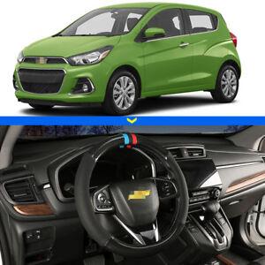 For-Chevrolet-Spark-Car-Steering-Wheel-Cover-15-034-38cm-Black-Carbon-Fiber-Leather