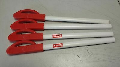 4 x Velux Bleistift mit Halteklammer rot   Neu