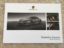 PORSCHE OFFICIAL CAYMAN /& CAYMAN S HARDBACK PRESTIGE BROCHURE USA EDITION 2013