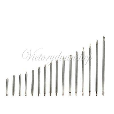 New Arrive 30Pcs 8-22mm Double Flange Watch Band Strap Link Pin Spring Bar Tool