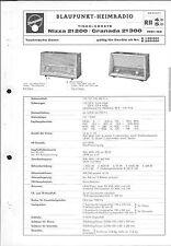 Blaupunkt Service Manual für Nizza 21200 / Granada 21300