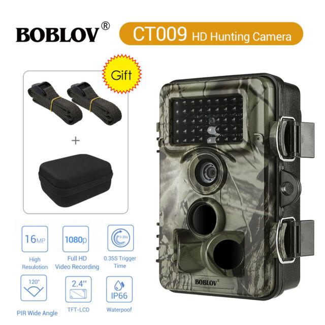 Ct009 16mp 1080p Trail Game Kamera digitales Scouting ip66 wasserdichte 120 ° PIR + Tasche