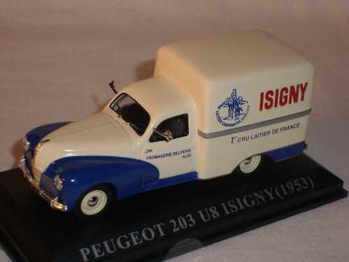 Peugeot 203 U8 isigny Transproter 1953 1//43 Del Prado Modell Auto Modellauto Son