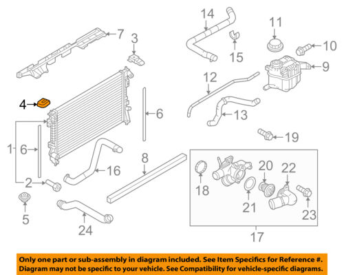 FORD OEM-Radiator Upper Insulator 7T4Z8125A