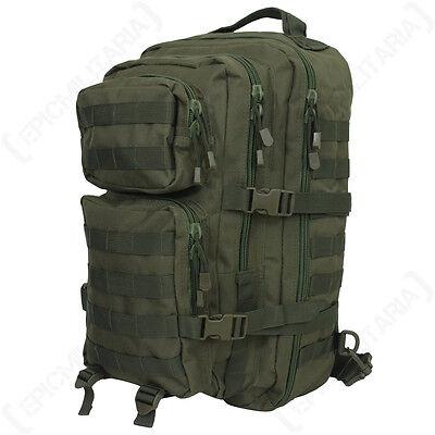 Olivgrün 29l Heer Militär Rucksack Tasche Neu Eleganter Auftritt Sport Groß Ein Riemen Molle Pack