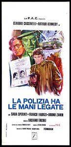 LA POLIZIA HA LE MANI LEGATE (1° TIPO) LOCANDINA CINEMA POLIZIESCO ITALIA 1975