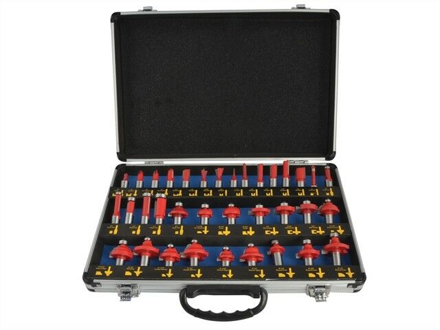 Router Bit Set of 35 TCT 1 2in Shank - Router Bits - FAIRBS35