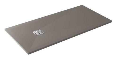 Piatto doccia in resina moderno colorato rettangolare con griglia inox e piletta