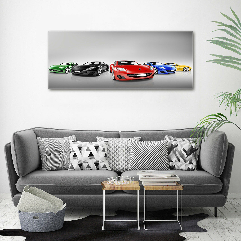 Cuadros de pa rojo  de pantalla de cristal coches impresión en vehículos coches cristal colores decorativos de vidrio 125 x 50 a59d6d