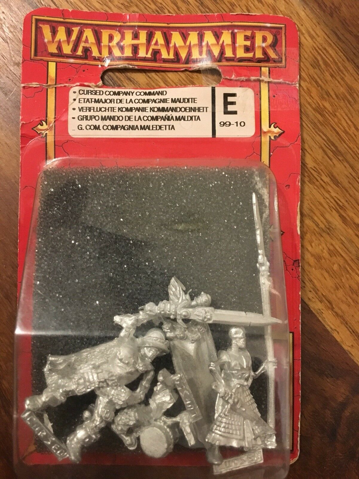 Dogs Of War Cursed Company Command  New In Blister Metal WARHAMMER OOP