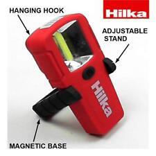 Hilka 3W COB 150 Lumens mini ispezione LUCE CON SUPPORTO E GANCIO BATTERIE INC