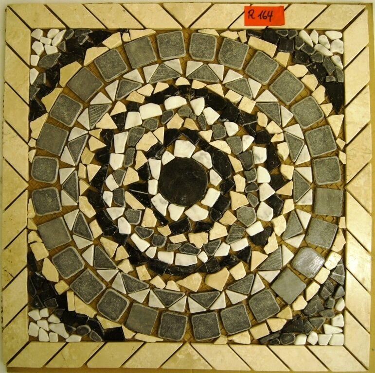 Naturstein Rosone, Antik Marmor, Fliese, Mosaik R164 Expressversand