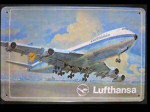 Lufthansa-Targa-di-latta-Aeromobili-BOING-747