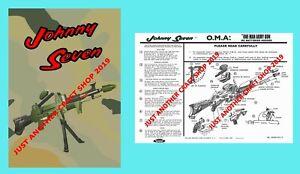 Johnny-siete-OMA-un-Hombre-Ejercito-1964-Folleto-de-instrucciones-y-Cartel-Anuncio-Cartel
