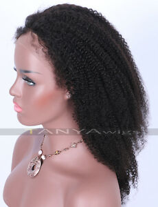 Human Hair Lace Front Afro Wigs African American Kinky Curl For ... 10303f49e