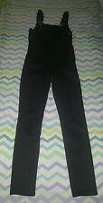 FRAME Denim London- LA Le High Skinny Jumper Overalls in Black Sz Small