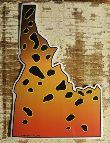 CUTTHROAT TROUT Stickers STATE CUT-OUTS fishing MANY STATES fly fishing DECALS