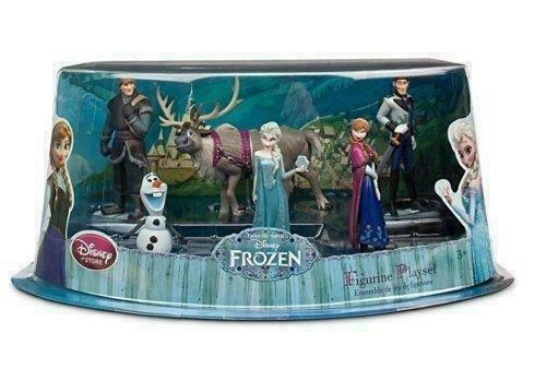 Frozen Elsa Anna Olaf Playset 6 Figure Cake Topper *FAST SHIPPING* Toy Doll Set