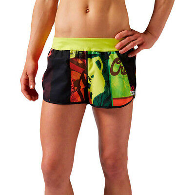 Reebok Womens Crossfit Ass To Ankle Shorts Graphic Woven Gym Run Sports Short Profitieren Sie Klein