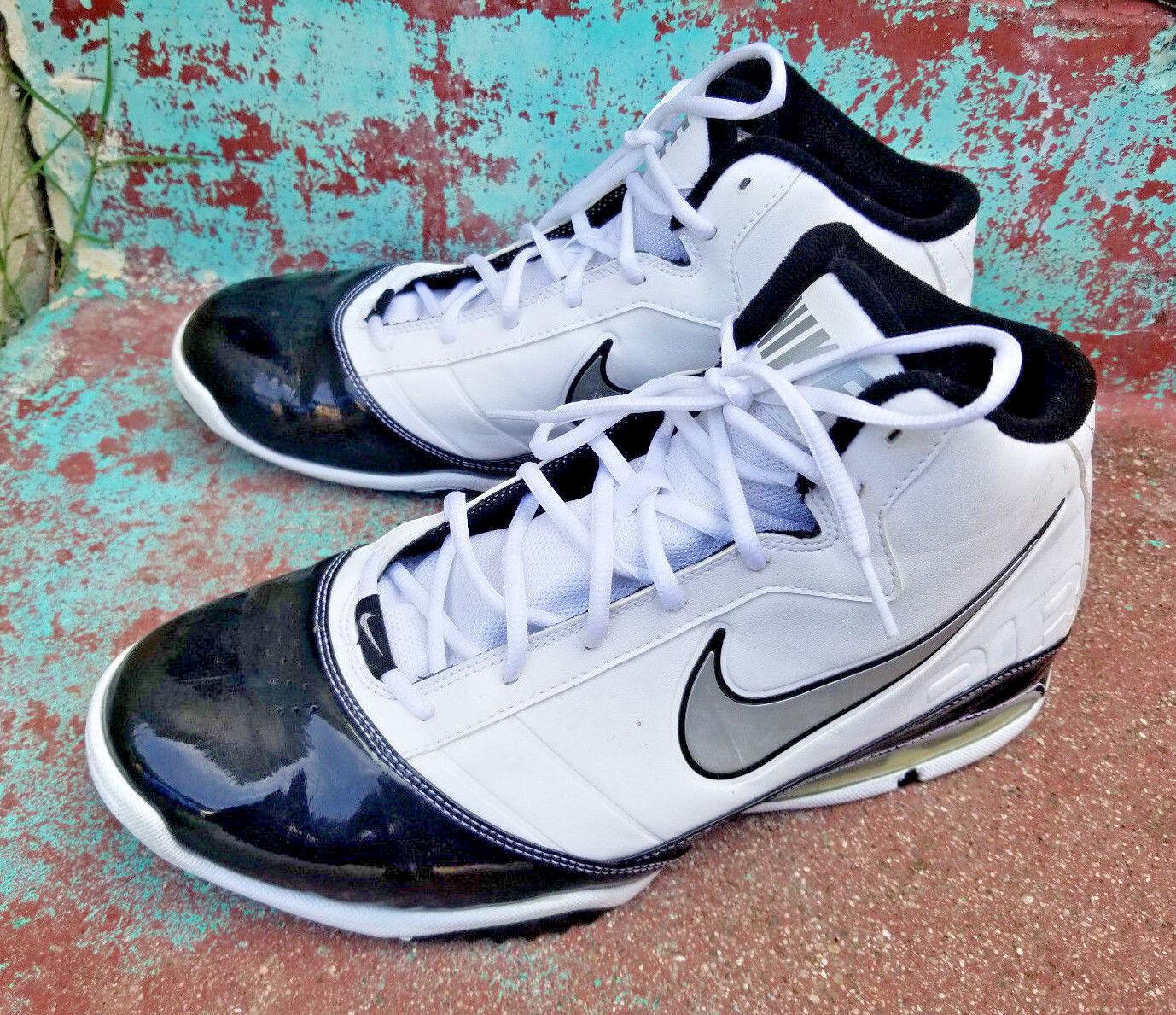 Nike Air Max Turnaround Men's Basketball Shoes Size White Black 386237-101